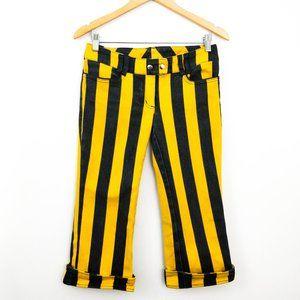 Lip Service Psycho Circus Striped Capri Pants